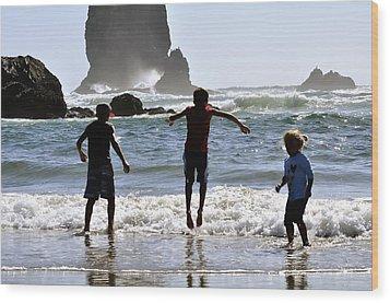 Wave Jumping 25614 Wood Print