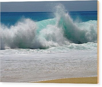 Wave Wood Print by Karon Melillo DeVega