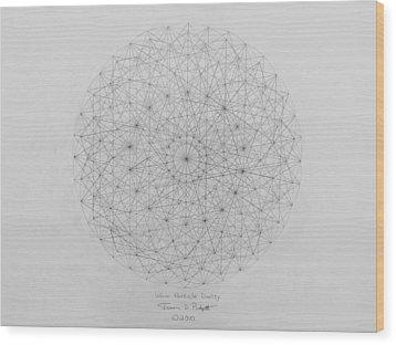 Wave Particle Duality Original Wood Print by Jason Padgett