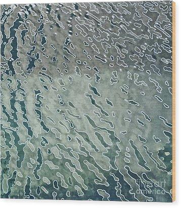 Wave Pattern 1 Wood Print by Dietmar Fink