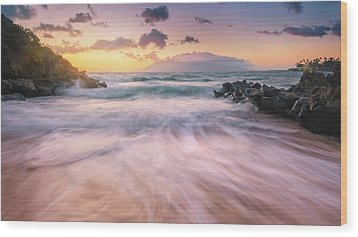 Wave Surge Wood Print by Hawaii  Fine Art Photography