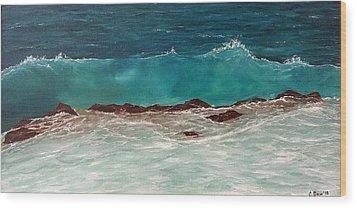 Wave Wood Print by Svetla Dimitrova