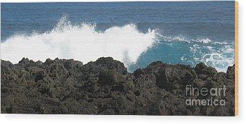 Wave - Vague - Ile De La Reunion - Reunion Island Wood Print by Francoise Leandre