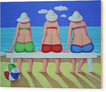 Wave Watch - Beach Wood Print