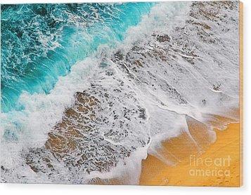 Waves Abstract Wood Print by Silvia Ganora