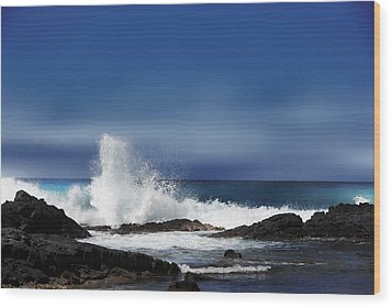 Wood Print featuring the photograph Waves by Athala Carole Bruckner