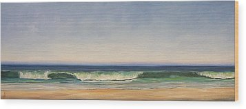 Waves Wood Print by Dianna Poindexter