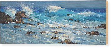 Wood Print featuring the painting Waves by Dmitry Spiros