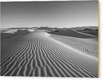 Waves In The Distance Wood Print