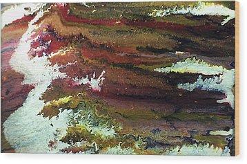 Waves Wood Print by Lisa Williams