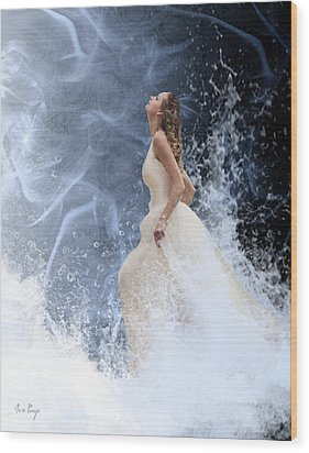 Waves Of His Glory Wood Print