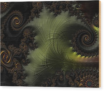 Waves Of Resonance Wood Print by Owlspook