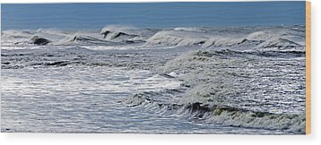 Waves Off Sandfiddler Rd Corolla Nc Wood Print by Greg Reed