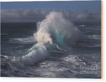 Waves Wood Print by Ron Sanford