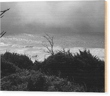 Wood Print featuring the photograph Waves Upon The Land by Tarey Potter