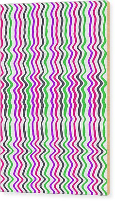 Wavy Stripe Wood Print by Louisa Hereford