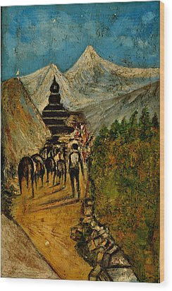 Way To God At Himalayas Wood Print by Anand Swaroop Manchiraju