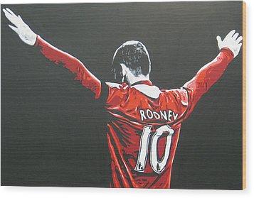 Wayne Rooney - Manchester United Fc 2 Wood Print by Geo Thomson