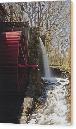 Wayside Grist Mill 2 Wood Print by Dennis Coates
