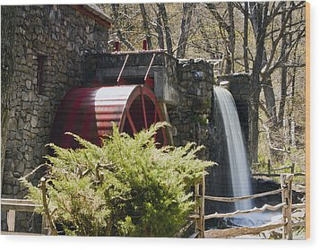 Wayside Grist Mill 3 Wood Print by Dennis Coates