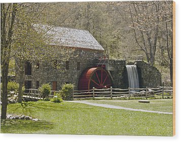 Wayside Grist Mill 6 Wood Print by Dennis Coates