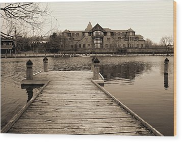 Wayzata Dock Wood Print