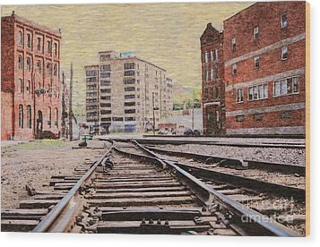 Wb - West Bottoms - Kcmo Wood Print by Liane Wright