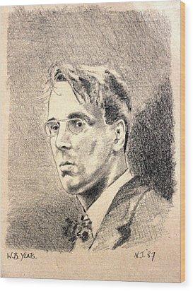W.b. Yeats Wood Print by John  Nolan