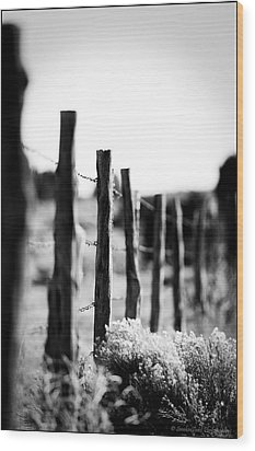 We Are All Fenced In Wood Print