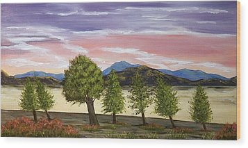 Wood Print featuring the painting We Learn To Bend To The Wind by Susan Culver