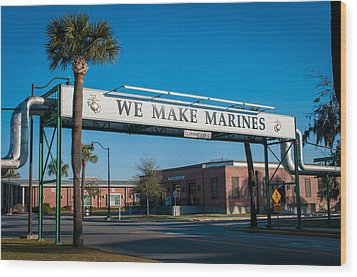 We Make Marines Wood Print