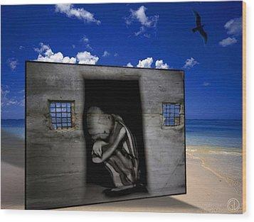 We Prisoners Wood Print by Gun Legler