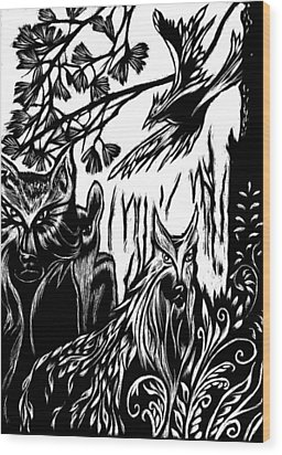 We The Creatures Wood Print by Ingrid  Schmelter