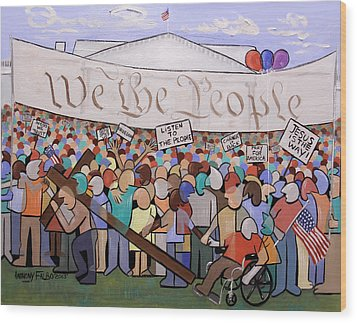 We The People Wood Print by Anthony Falbo