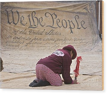 We The People Wood Print by Jim West