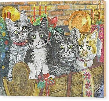 Wood Print featuring the painting In Harmony by Carol Wisniewski