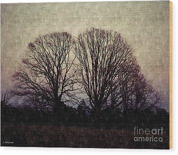 Weary Winter Wood Print by Christy Ricafrente