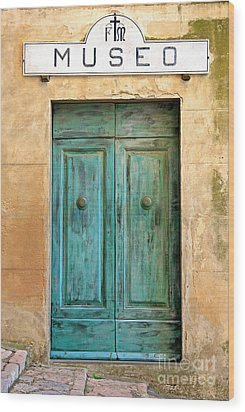 Weathed Museo Door Wood Print