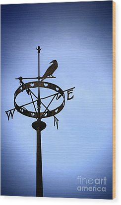 Weather Vane Wood Print