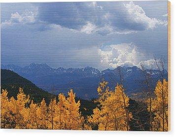 Weather Window Wood Print by Jeremy Rhoades