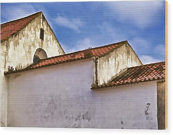 Weathered Barn Of Medieval Europe Wood Print by David Letts