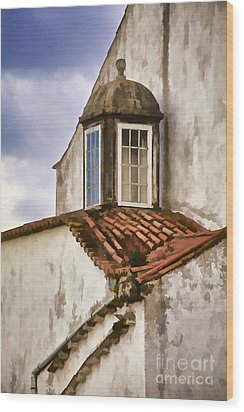Weathered Building Of Medieval Europe Wood Print by David Letts