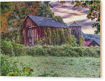 Weathered Connecticut Barn Wood Print by John Vose