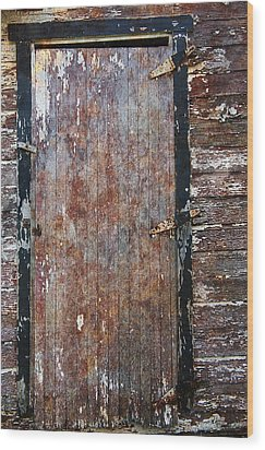 Weathered Door Wood Print