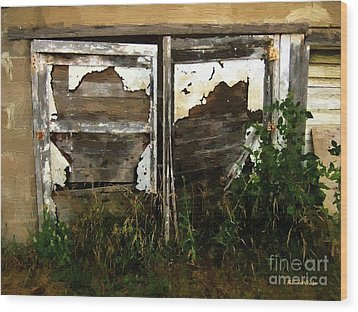 Weathered In Weeds Wood Print by RC DeWinter