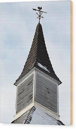 Weathervane Wood Print by John Rizzuto