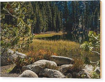 Weaver Lake -1-7682 Wood Print