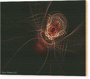 Weaver Of Webs Wood Print by Linda Whiteside
