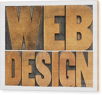 Wood Print featuring the photograph Web Design  by Marek Uliasz