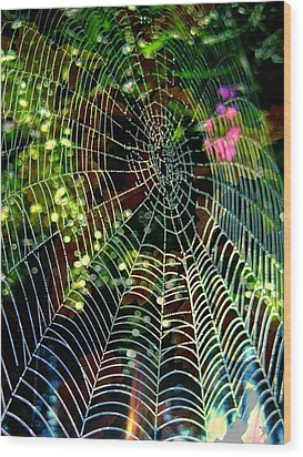 Web Of Entanglement Wood Print by Shirley Sirois